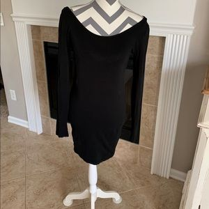 Forever 21 Black BodyCon Tunic Top/Dress,  Large